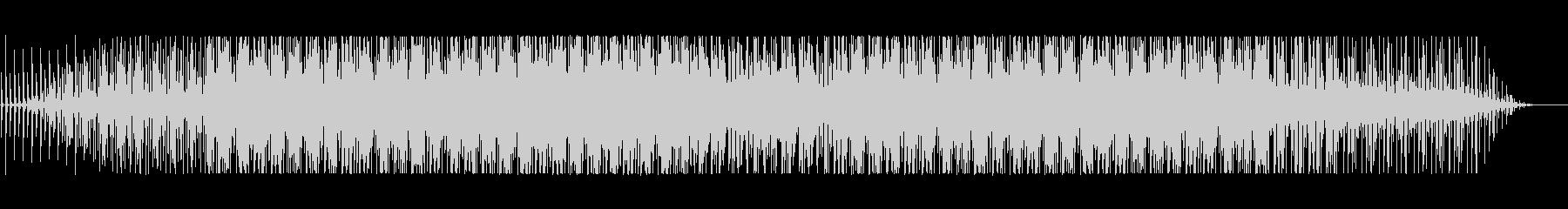 実験音楽的なスローな四つ打ちの未再生の波形