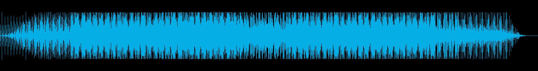 実験音楽的なスローな四つ打ちの再生済みの波形