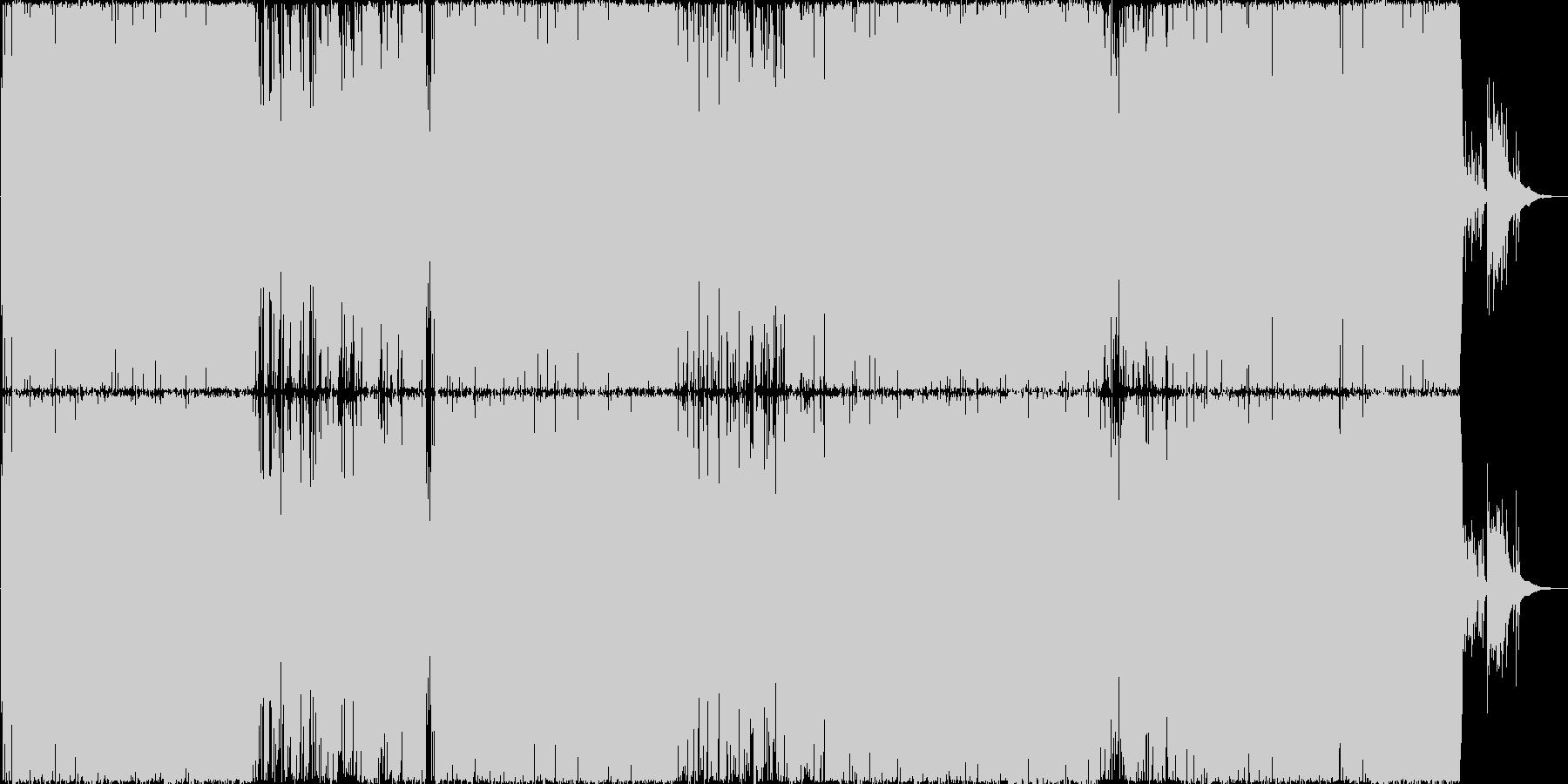アイソレイトの未再生の波形