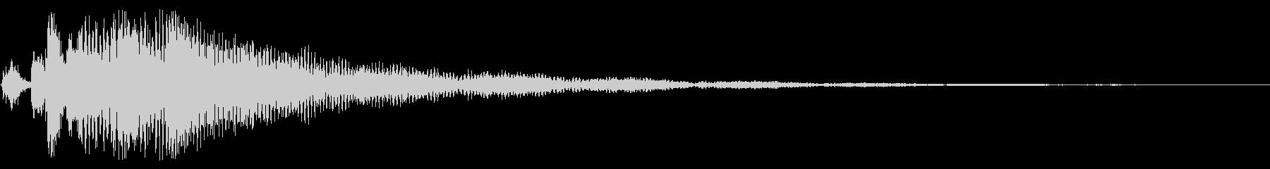 エンド グリッサンド トイピアノの未再生の波形