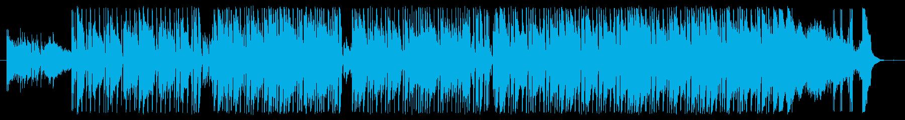 力強くて一体感のあるメロディーの再生済みの波形