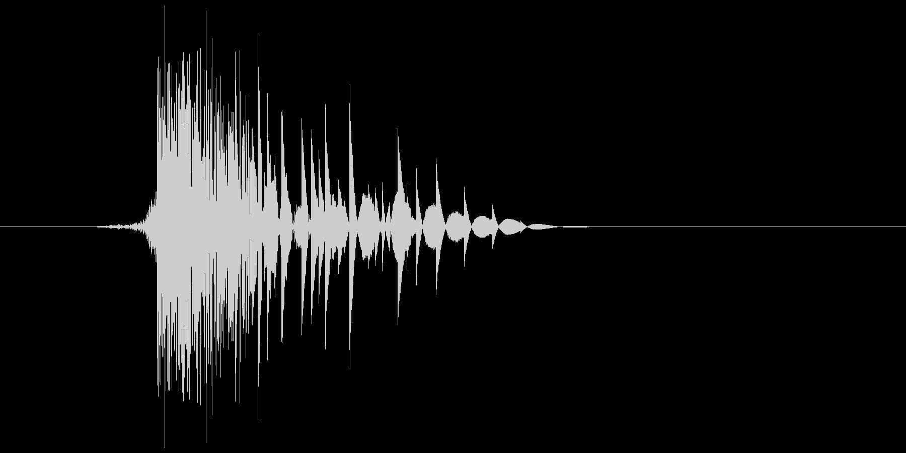ゲーム(ファミコン風)ヒット音_007の未再生の波形