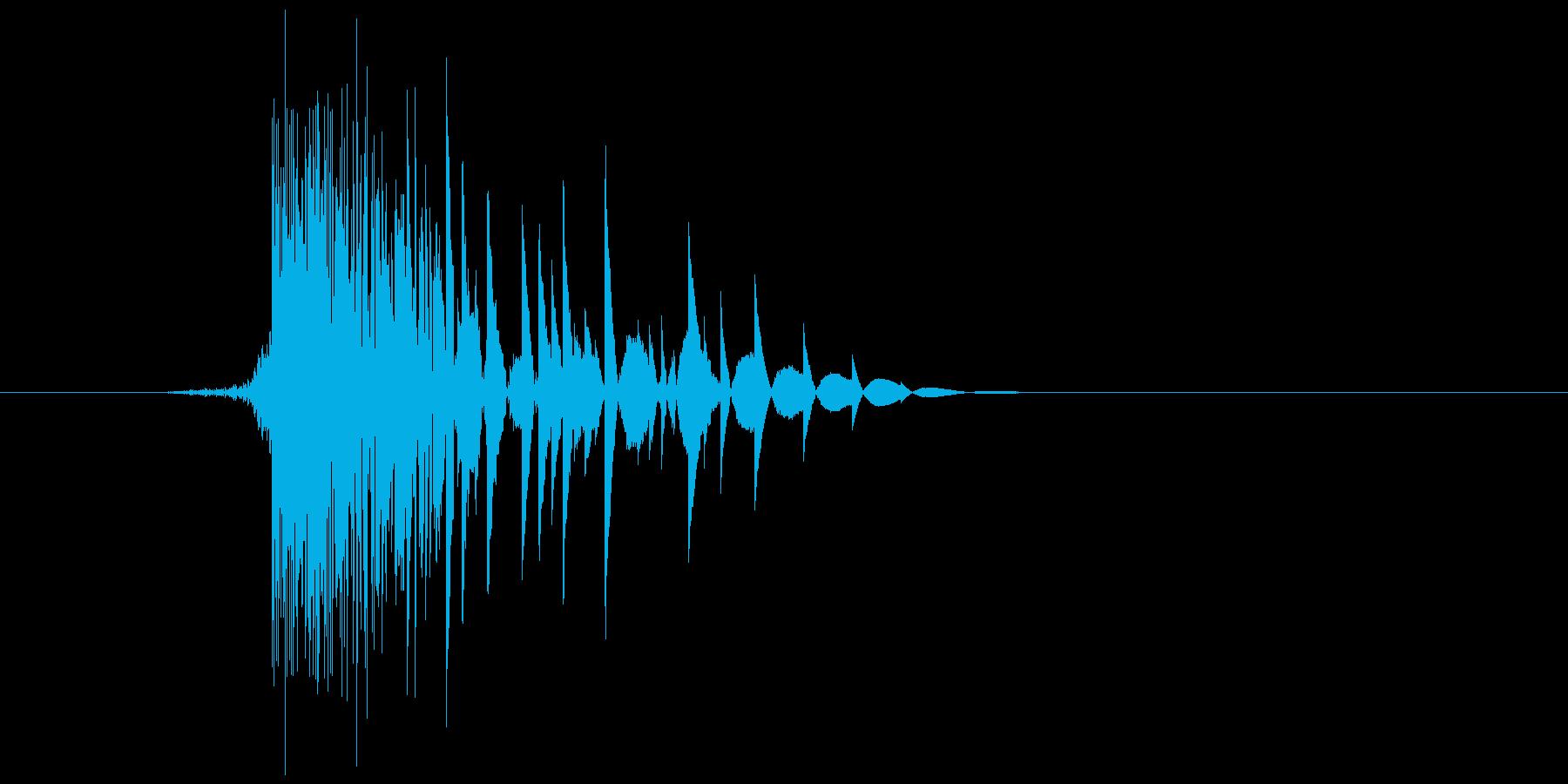 ゲーム(ファミコン風)ヒット音_007の再生済みの波形
