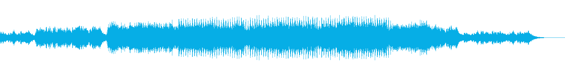 神秘的で響きがかっこいいメロディーの再生済みの波形