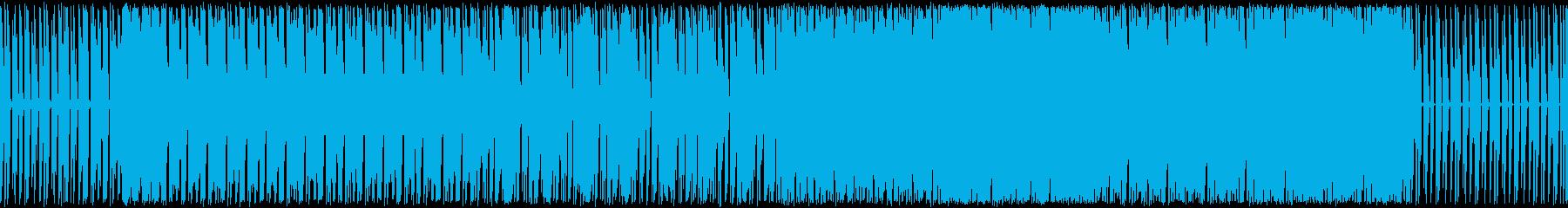 パズルを解いてる時のような雰囲気の曲の再生済みの波形