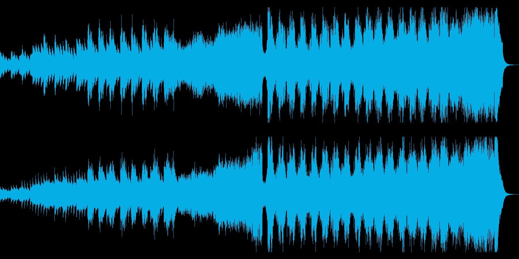 神々しく壮大なクワイアとオーケストラの曲の再生済みの波形
