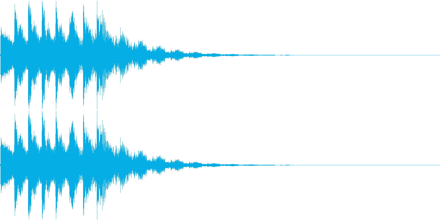 アニメにありそうなひらめき音の再生済みの波形