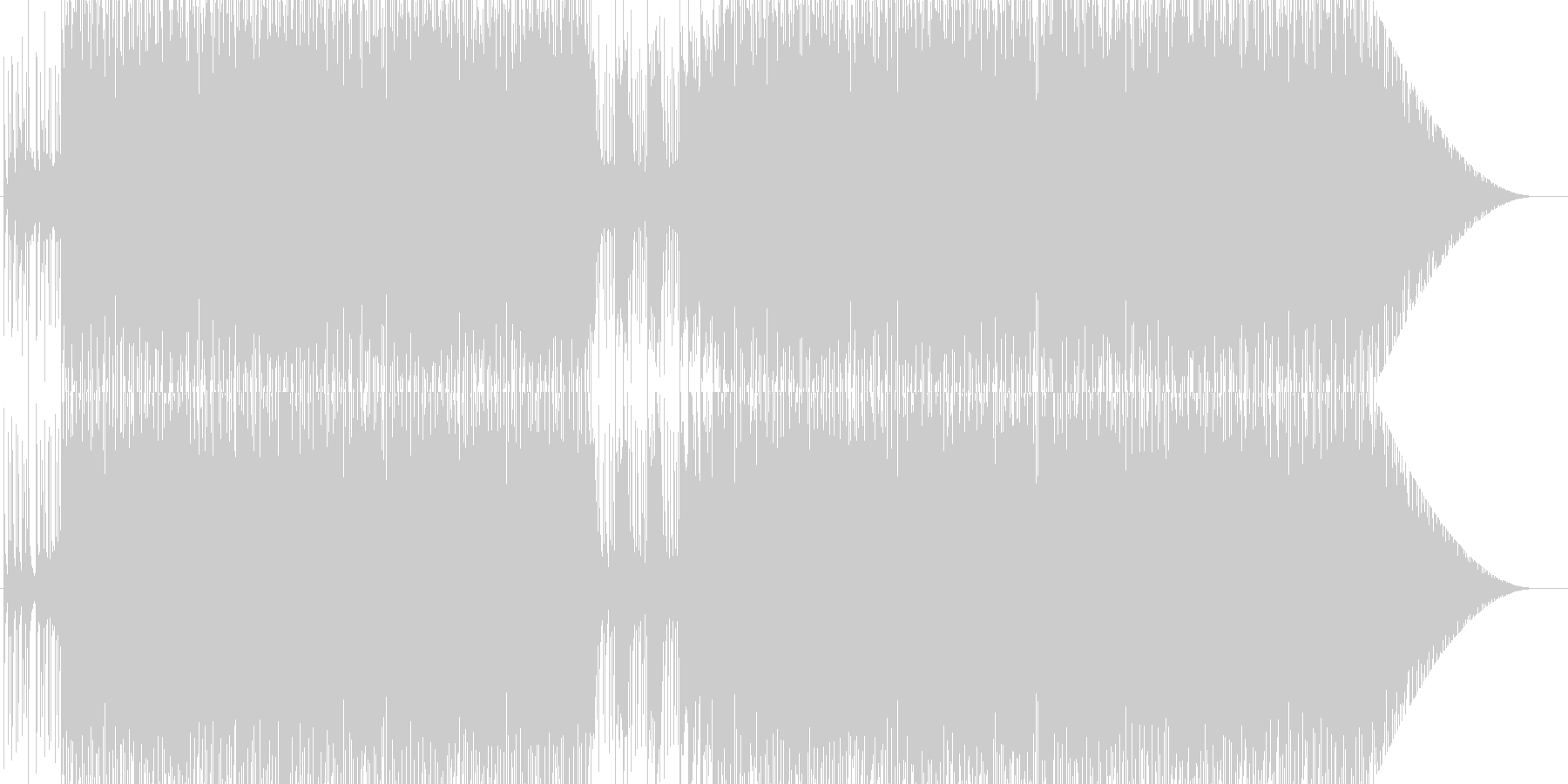 生々しくない軽快なラテン音楽の未再生の波形