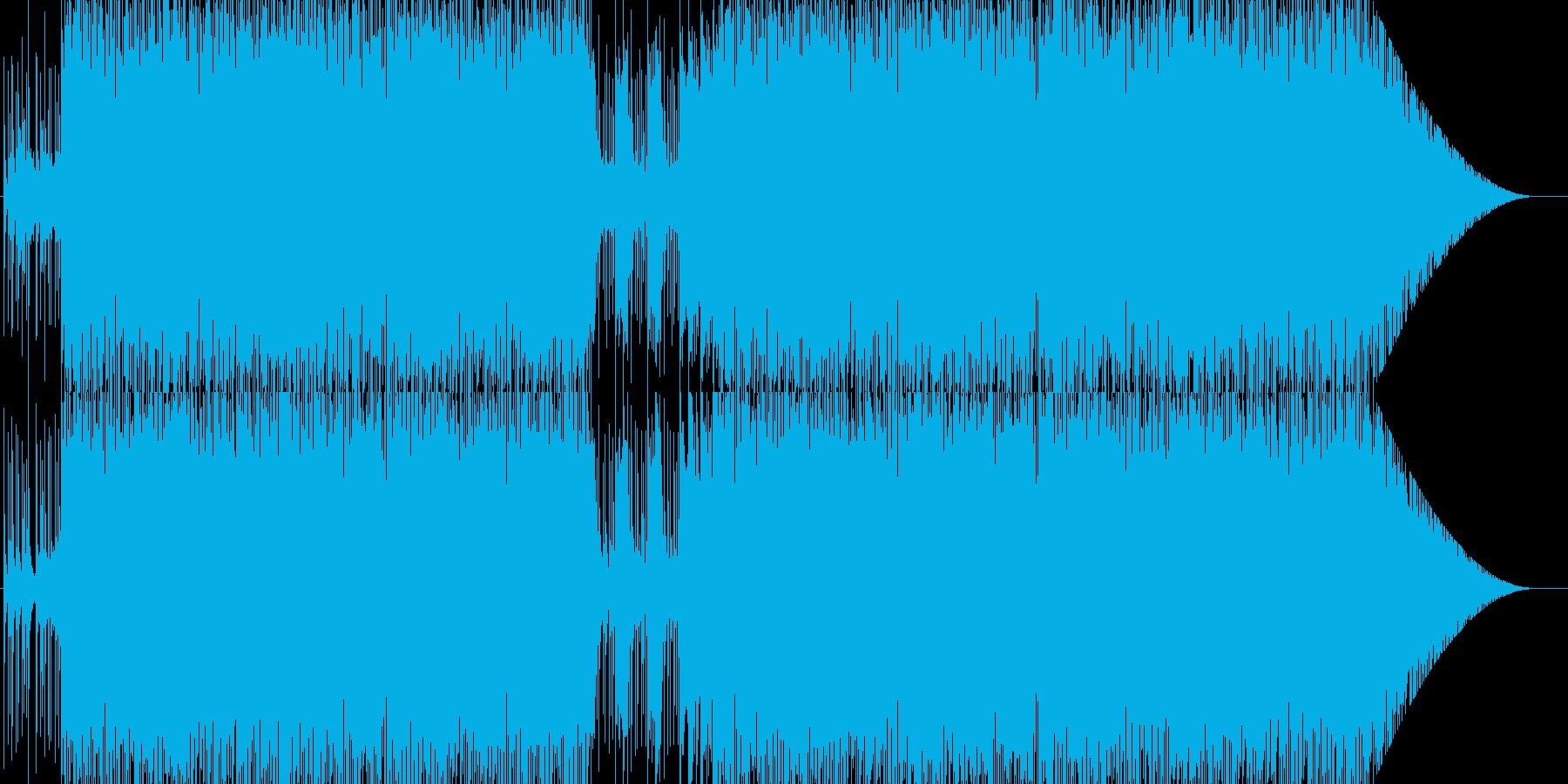 生々しくない軽快なラテン音楽の再生済みの波形