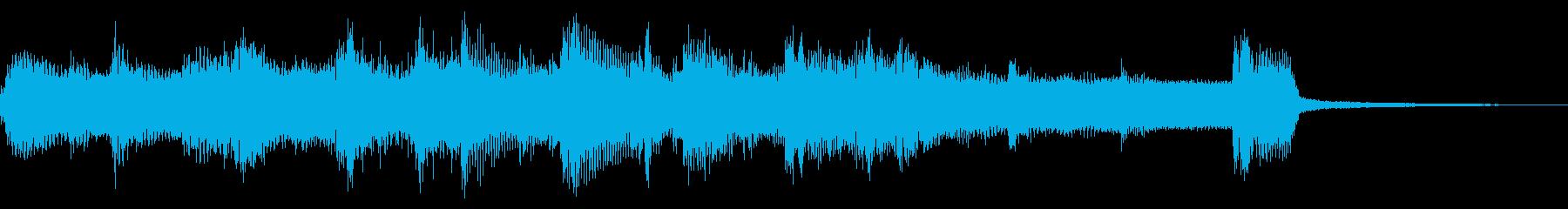 のんびりほんわかしたウクレレジングルの再生済みの波形