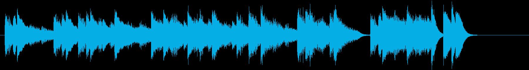 「乾杯の歌」モチーフのピアノジングルAの再生済みの波形