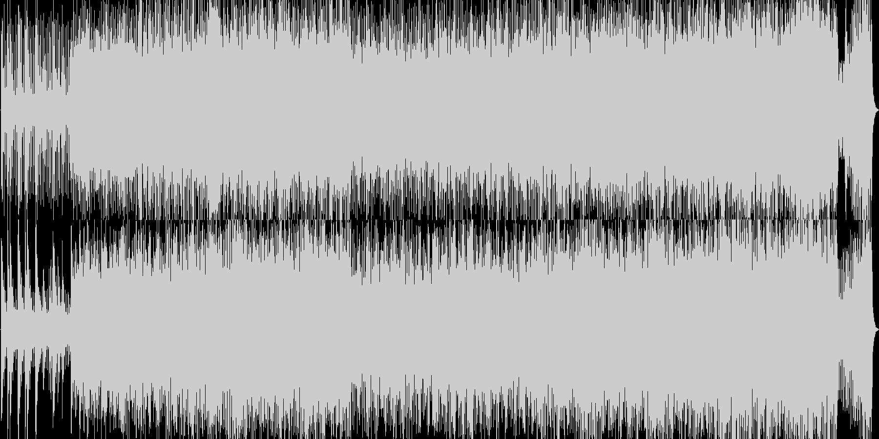 スピード感のあるオーケストラの未再生の波形
