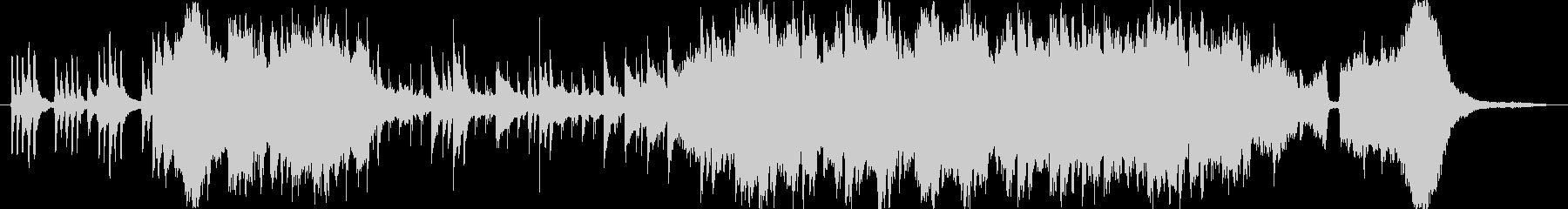 切なく情緒のある琴の和風BGMの未再生の波形