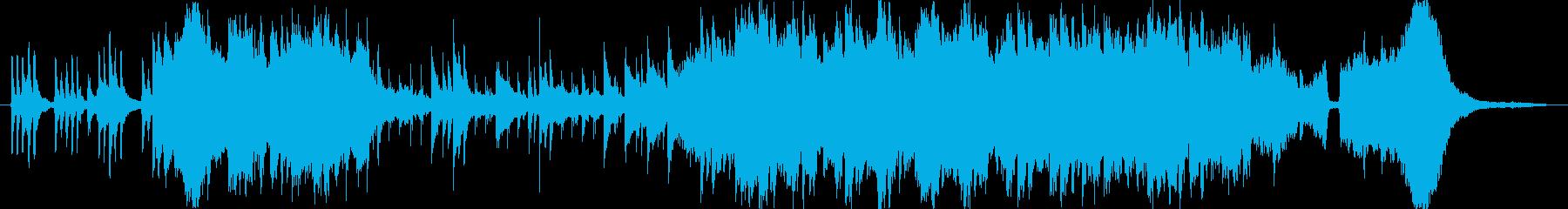 切なく情緒のある琴の和風BGMの再生済みの波形