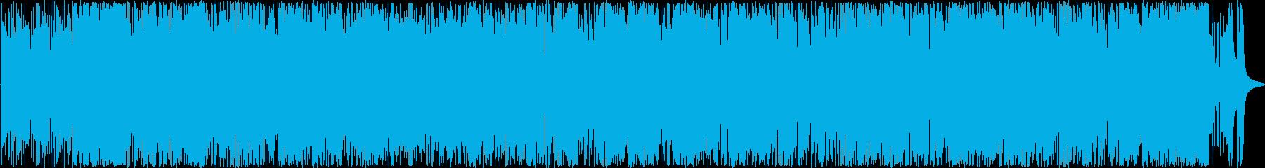 アップテンポでハードボイルドなジャズの再生済みの波形