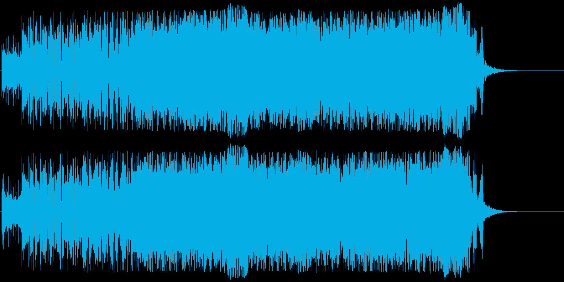 未来をイメージした前向きサウンドの再生済みの波形