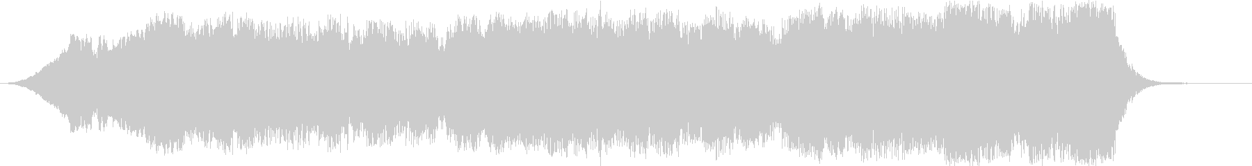 広がりのあるピアノのオーケストラ調の音の未再生の波形