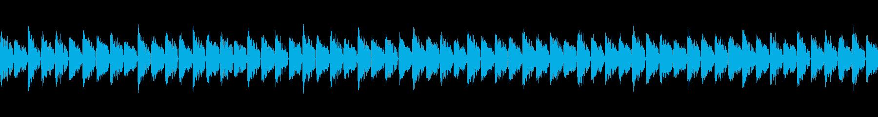 音が突き抜けるスクエアシーケンスループの再生済みの波形