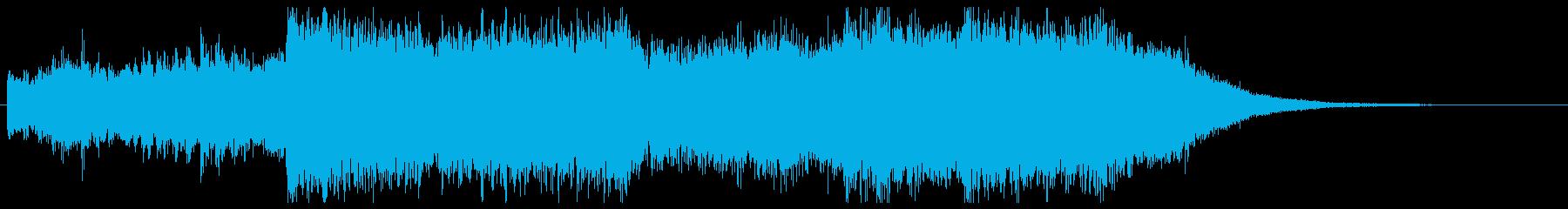 30秒CMに和風で疾走感あるオーケストラの再生済みの波形