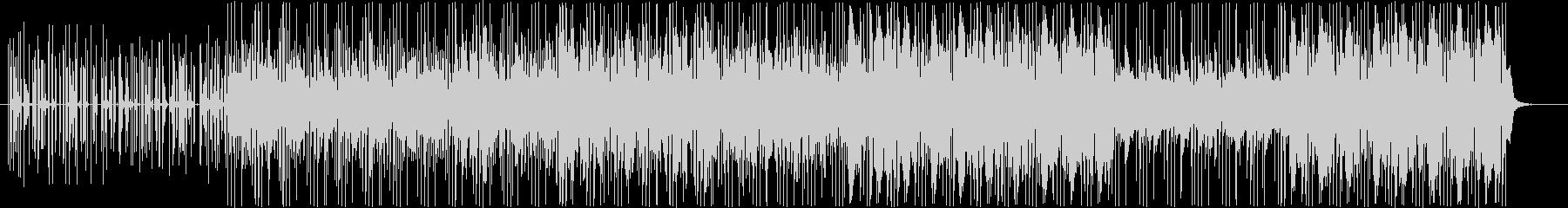 金属音と生ドラムとアシッドシンセの未再生の波形