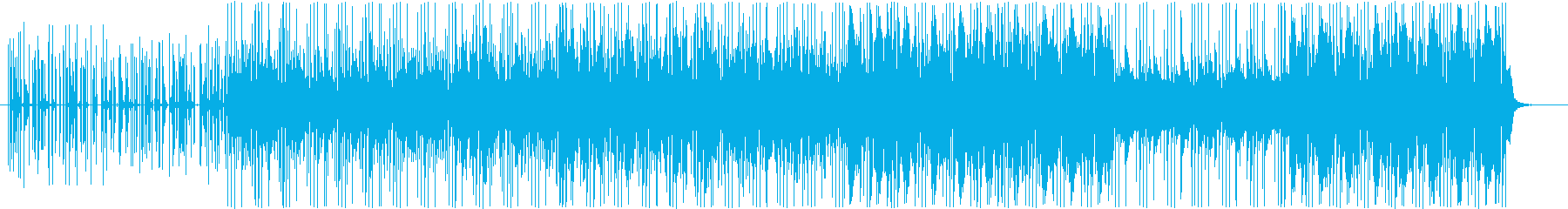 金属音と生ドラムとアシッドシンセの再生済みの波形