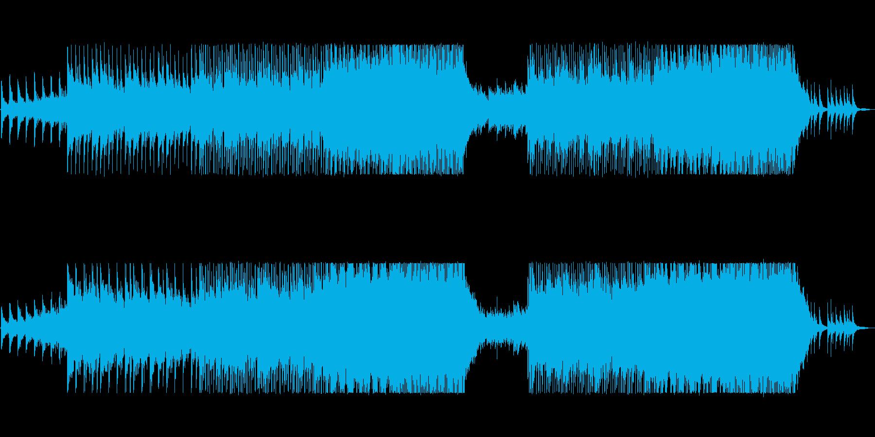 企業VPにドラマティックなポップロックの再生済みの波形