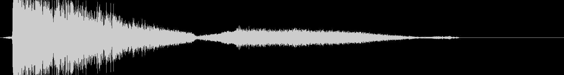 ガシャーン(割れて消える音)の未再生の波形