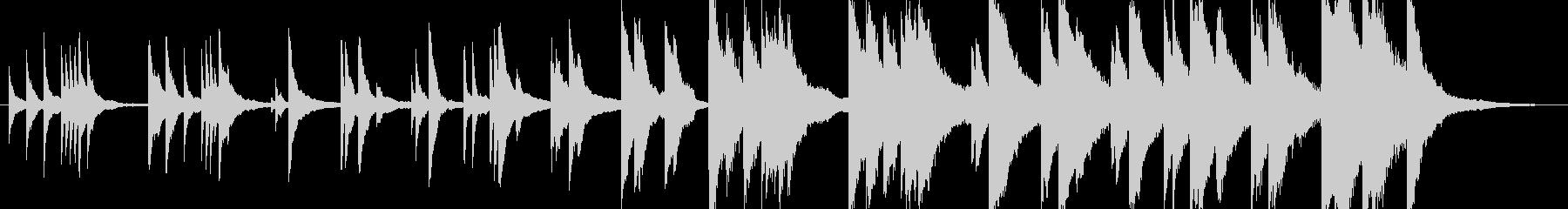 切ない悲しい感動的ピアノバラードの未再生の波形