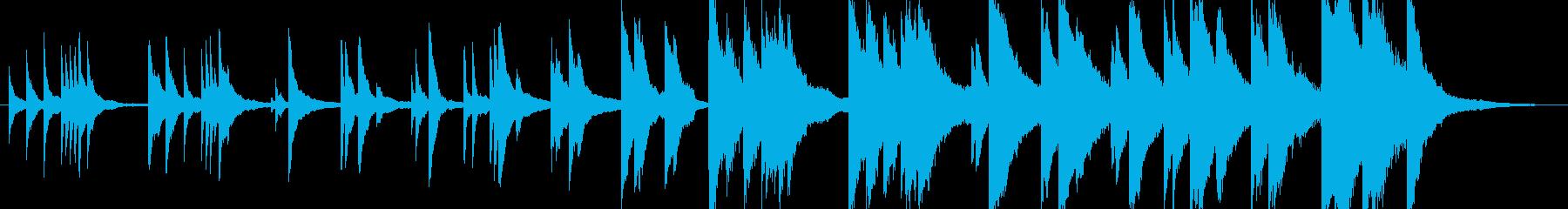 切ない悲しい感動的ピアノバラードの再生済みの波形