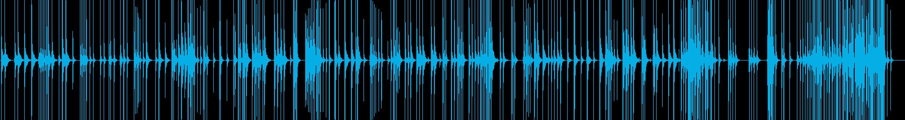 三味線114連獅子7二上り歌舞伎生音和風の再生済みの波形