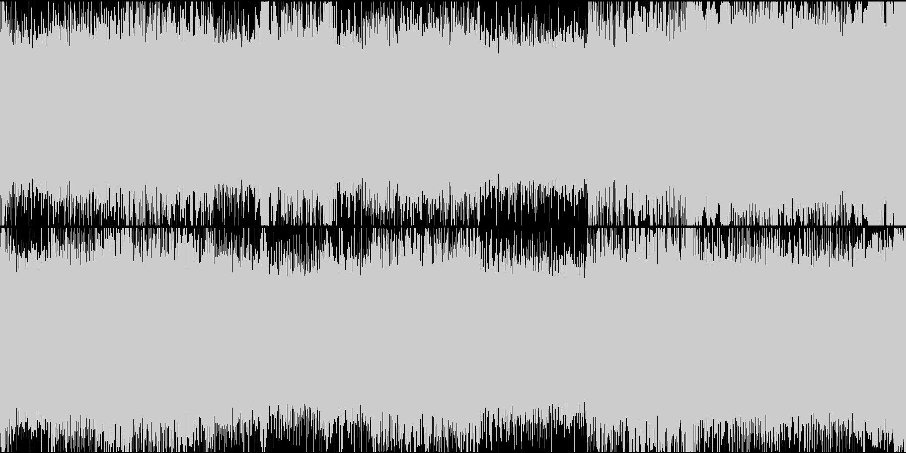 メタルライクな戦闘BGMの未再生の波形