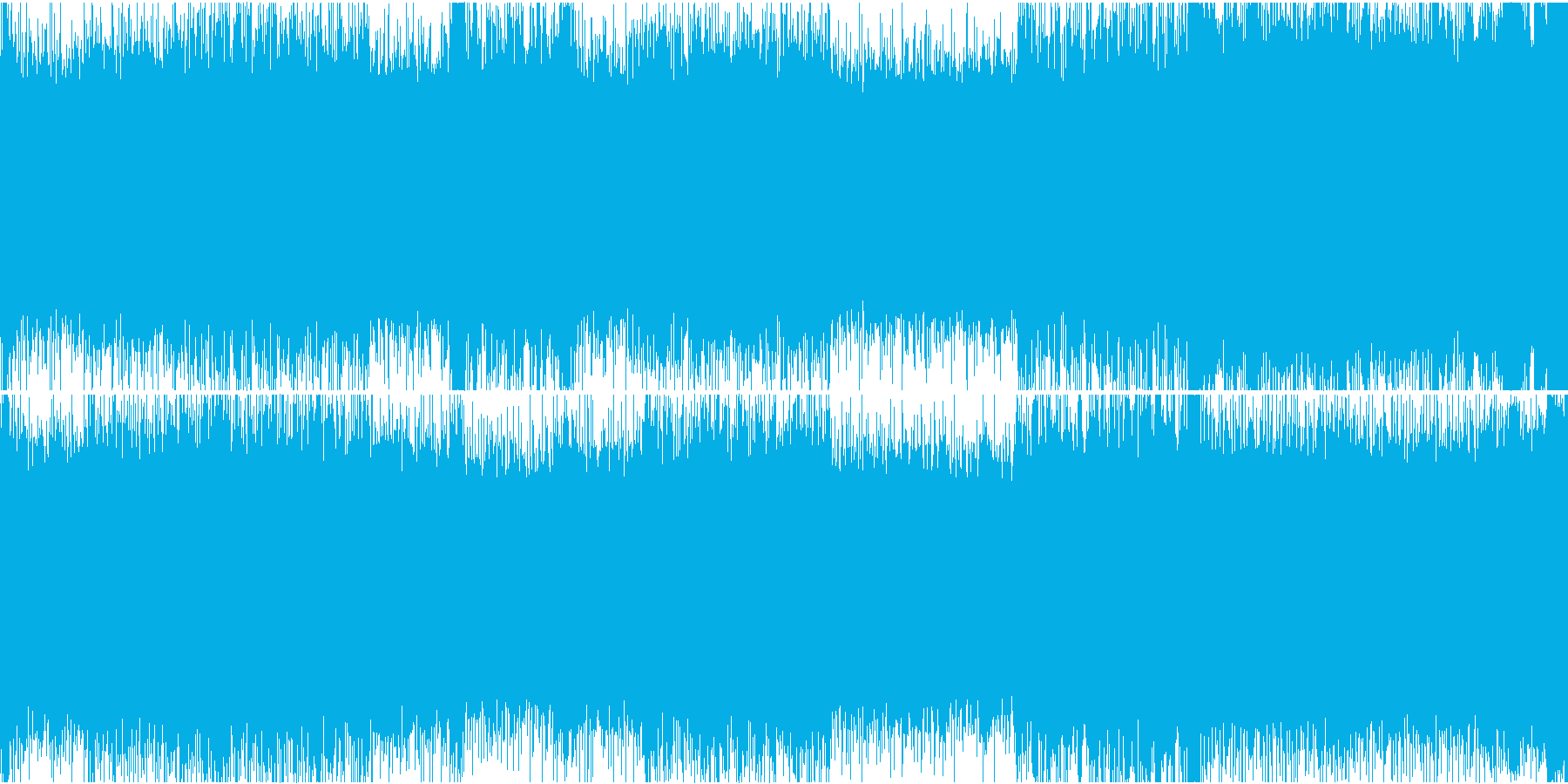 メタルライクな戦闘BGMの再生済みの波形