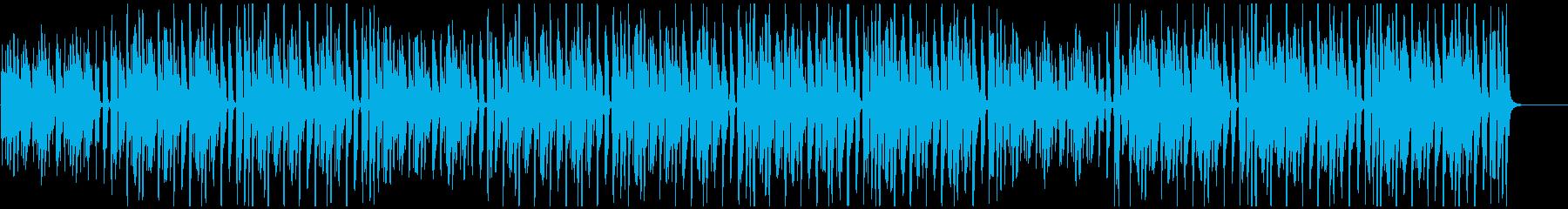 ゆったりコミカルな雰囲気のベース曲の再生済みの波形