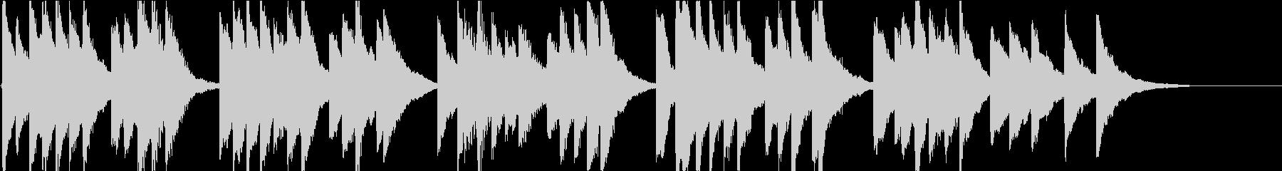 時報・チャイム風の名曲のメロディ・11の未再生の波形