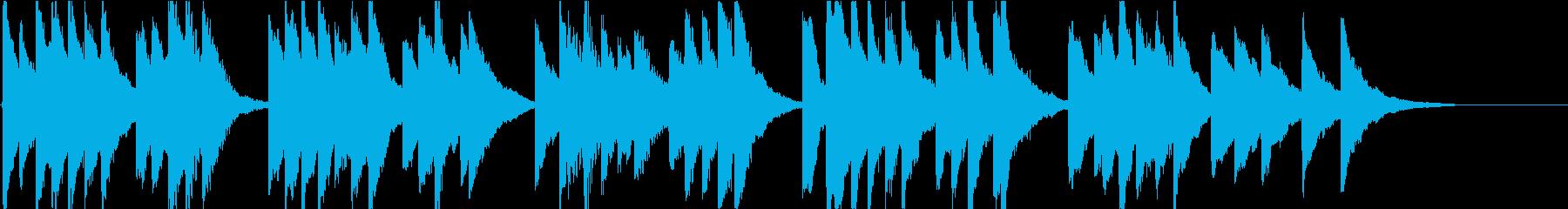 時報・チャイム風の名曲のメロディ・11の再生済みの波形
