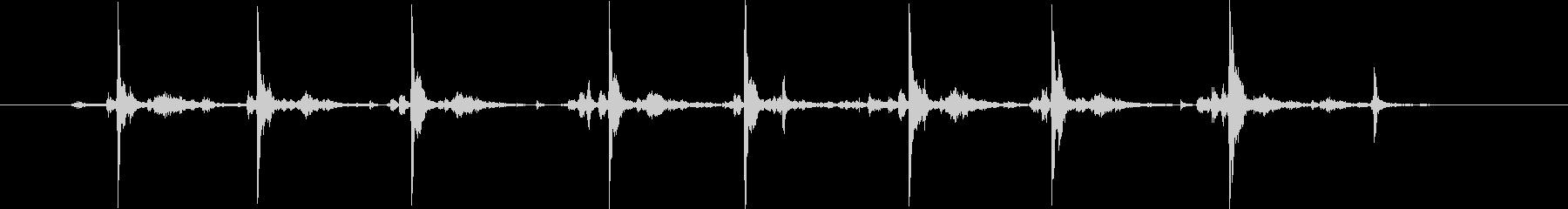 タイプライター8連打の未再生の波形