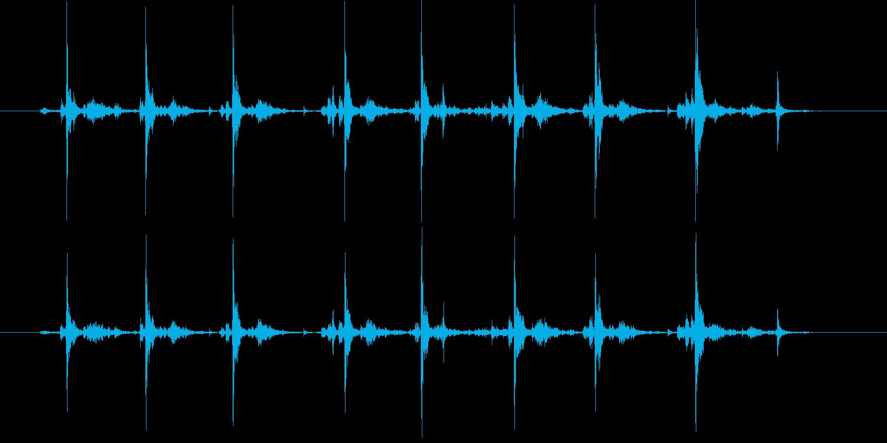 タイプライター8連打の再生済みの波形