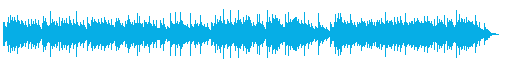 A gentle music box song's reproduced waveform