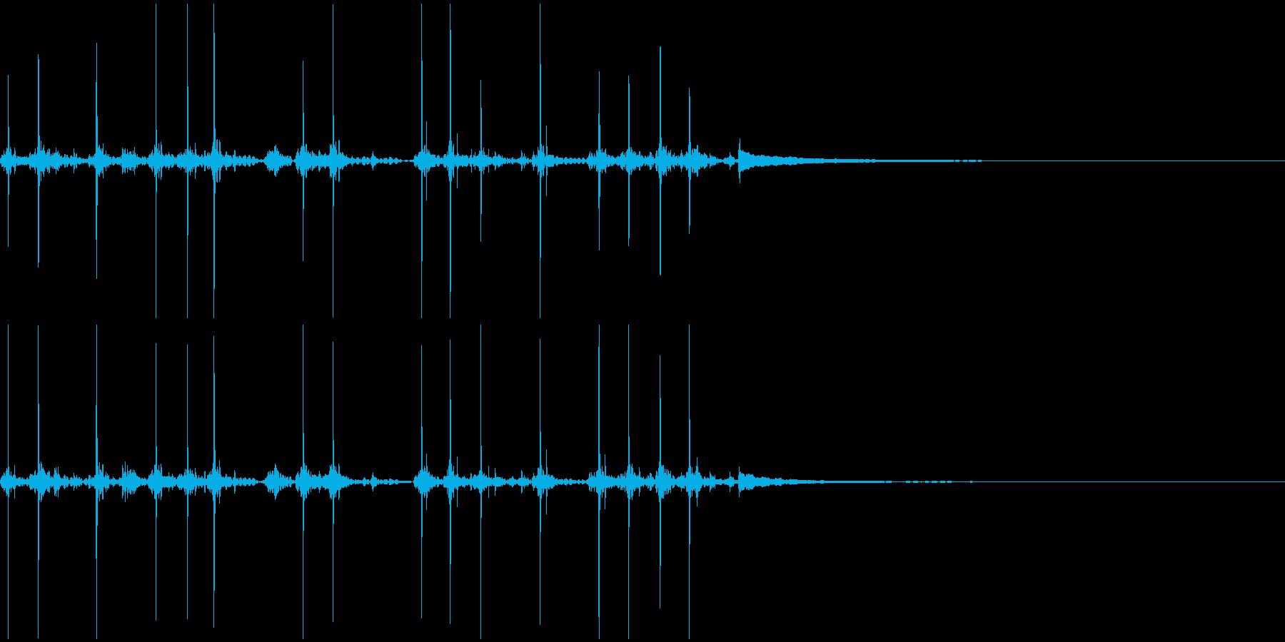 タイプライターの打刻音の再生済みの波形