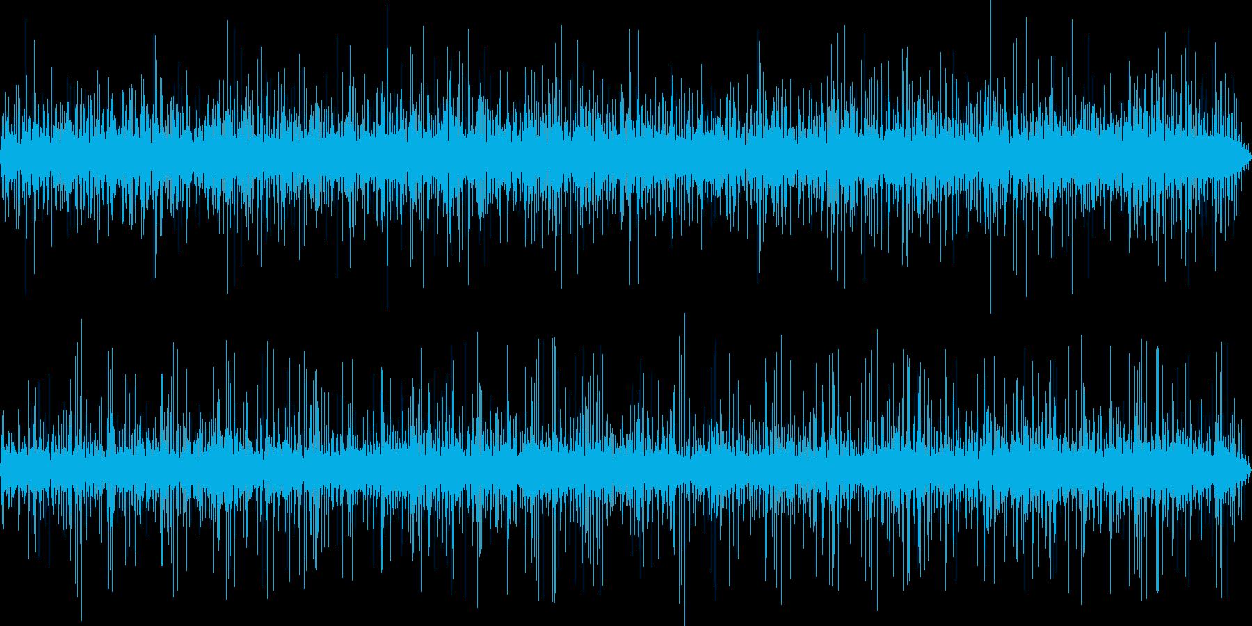 木の葉に当たる雨-1の再生済みの波形