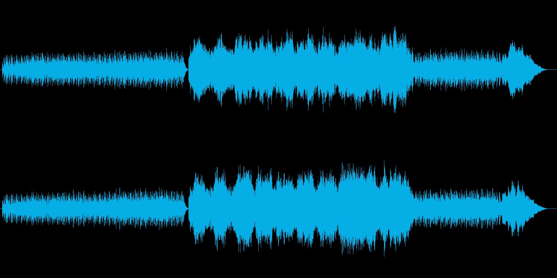 ハープとストリングスの穏やかな曲の再生済みの波形