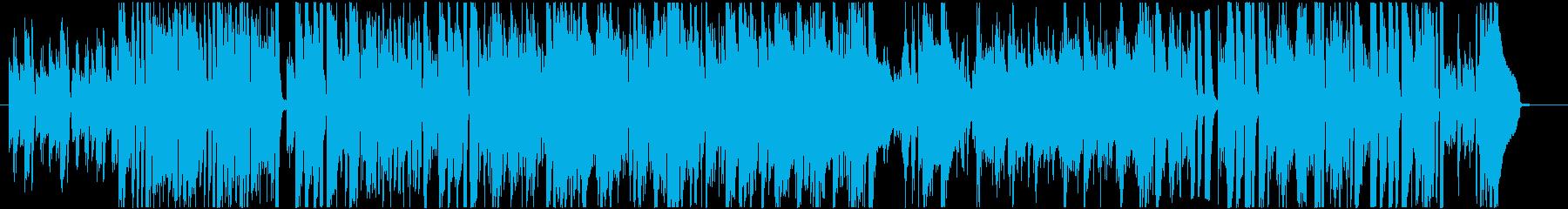 クールで疾走感のあるジャズピアノトリオ曲の再生済みの波形