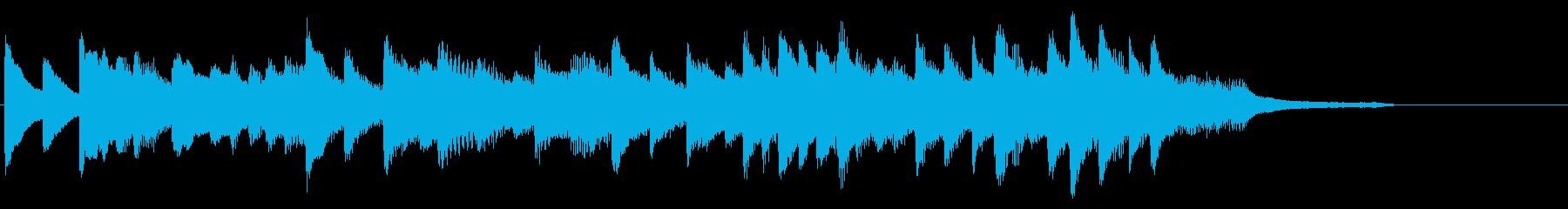 少し華やかなディズニー風の明るい短い曲の再生済みの波形