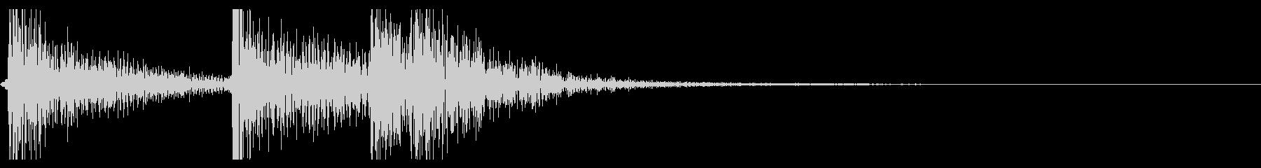【生録音】ドームカバーを閉める音の未再生の波形