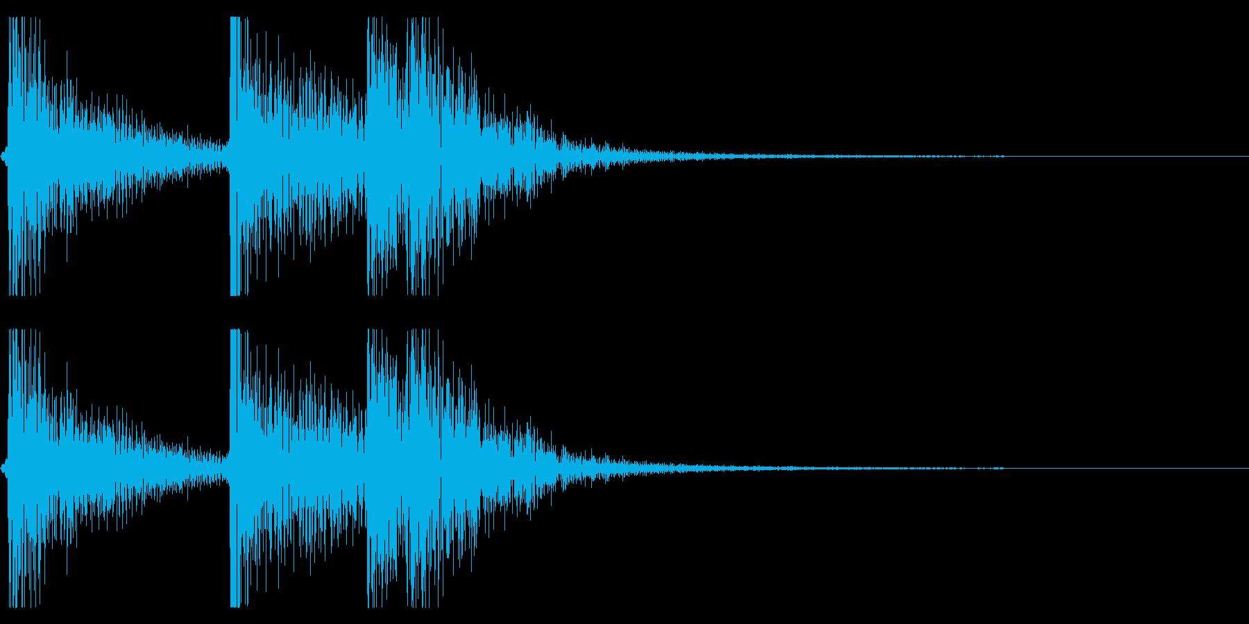 【生録音】ドームカバーを閉める音の再生済みの波形