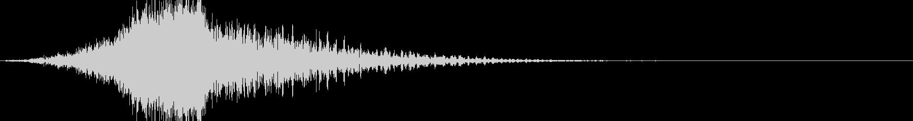 ヒューンどん:徐々に上昇していく音の未再生の波形