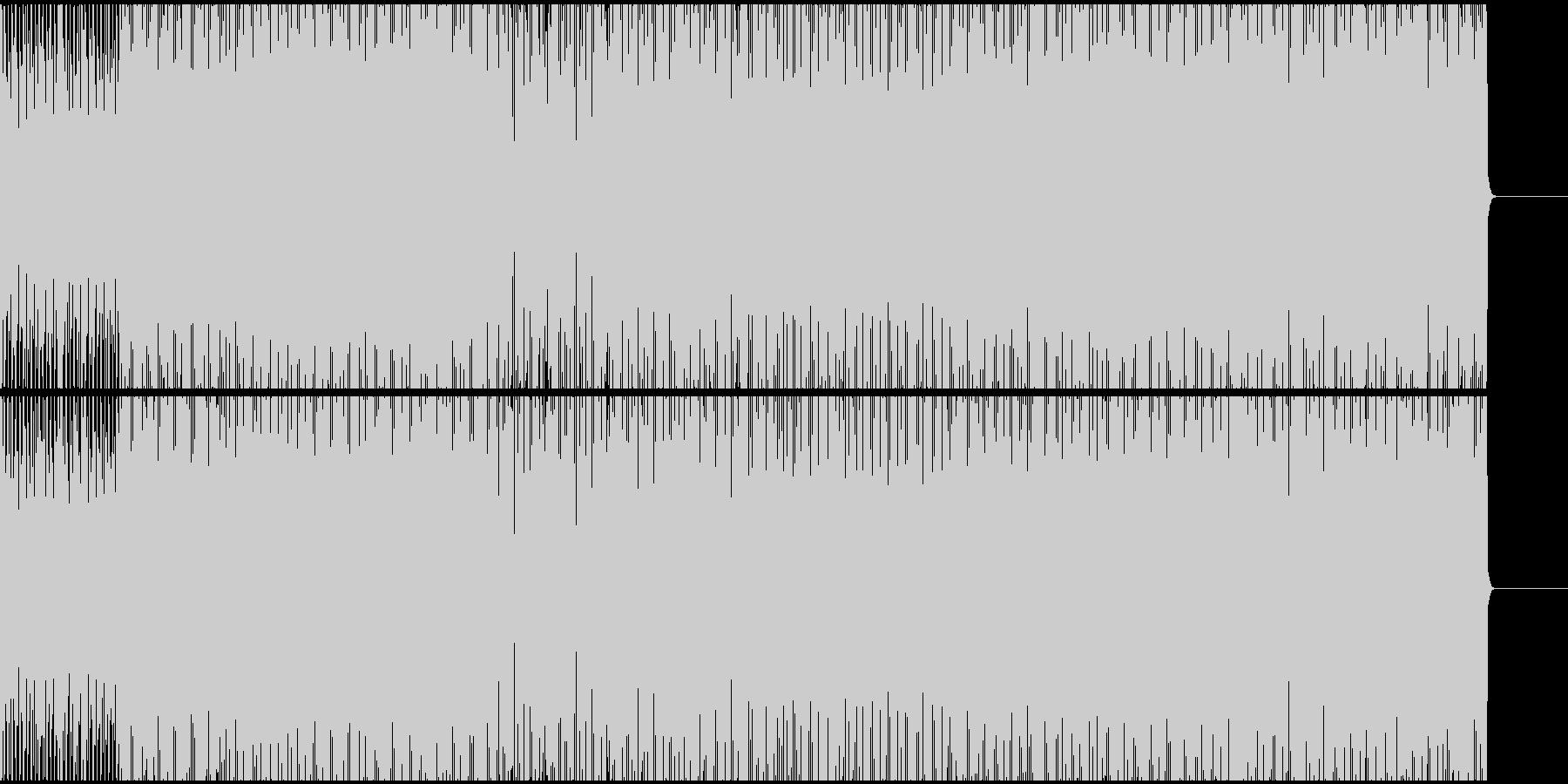 イビザ系明るめのエレクトリック・ハウスの未再生の波形