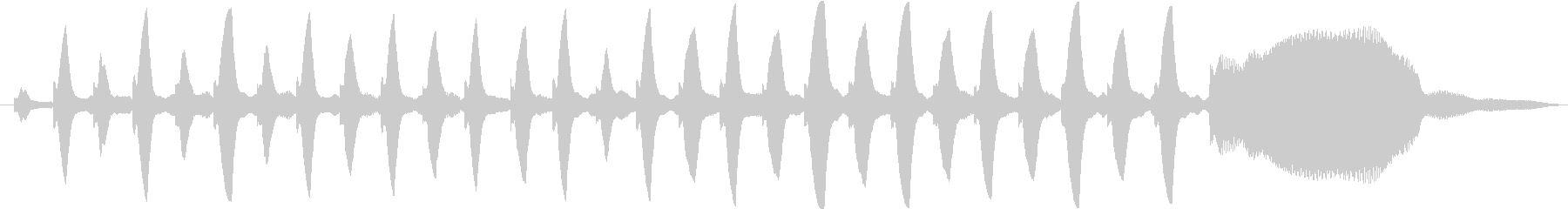 ピアノとオーボエの音色のかわいい音の未再生の波形
