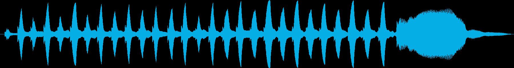 ピアノとオーボエの音色のかわいい音の再生済みの波形