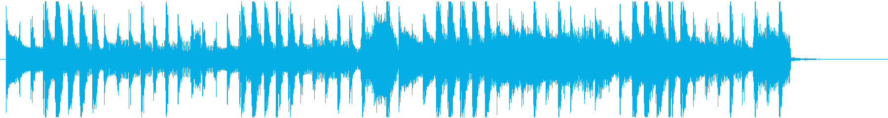 お洒落でライトなロックジングル 15秒の再生済みの波形